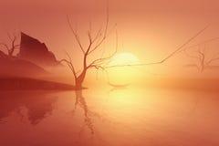 Albero di solitudine Fotografie Stock
