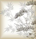 Albero di stile giapponese illustrazione di stock