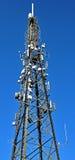 Albero di telecomunications dell'antenna del telefono Immagini Stock Libere da Diritti