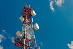 Albero di telecomunicazione Fotografie Stock Libere da Diritti