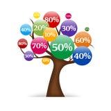 Albero di vendite illustrazione di stock