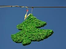 Albero di verde della decorazione della via Fotografie Stock