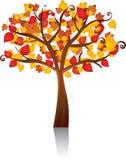 Albero di vettore di autunno Fotografia Stock Libera da Diritti