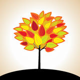 Albero di vettore di autunno Fotografia Stock