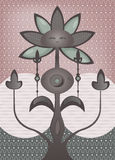 Albero fantastico psichedelico del fiore Fotografie Stock Libere da Diritti