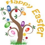Albero felice di Pasqua Fotografia Stock Libera da Diritti