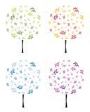 Albero floreale astratto, illustrazione di vettore Immagini Stock Libere da Diritti