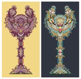 Albero floreale ornamentale astratto Fotografia Stock Libera da Diritti
