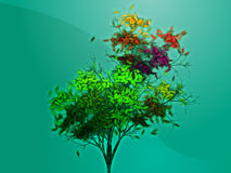 Albero frondoso di autunno Immagine Stock