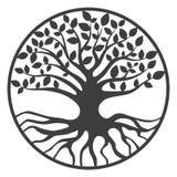 Albero genealogico di Yggdrasil dell'albero della vita Fotografia Stock