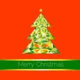 Albero geometrico di Natale Fotografia Stock Libera da Diritti