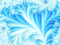 Albero ghiacciato o lago congelato con il fondo di frattale di inverno di immaginazione della neve Fotografie Stock Libere da Diritti