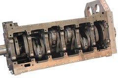 Albero a gomito del motore Fotografie Stock
