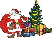 Albero il Babbo Natale di natale Fotografia Stock Libera da Diritti