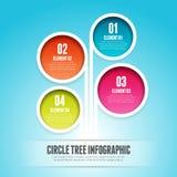 Albero Infographic del cerchio Fotografia Stock