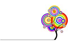 albero iridescent della priorità bassa astratta Fotografia Stock