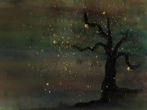 Albero isolato con i colori protetti illustrazione vettoriale