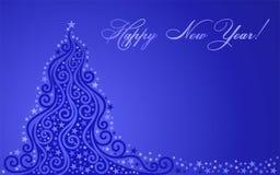 Albero lucidato di nuovo anno Immagine Stock Libera da Diritti