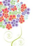 Albero magico del fiore della sorgente Immagine Stock Libera da Diritti