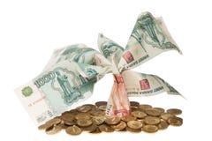 Albero monetario fotografia stock