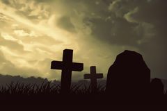 Albero morto della siluetta spaventosa Immagini Stock