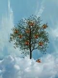 Albero nel cielo fotografia stock libera da diritti