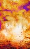 albero nello spazio cosmico, collage grafico Effetto di fuoco immagine stock libera da diritti