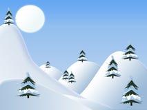 Albero in neve illustrazione di stock