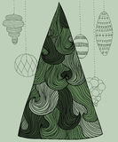 Albero ondulato del nuovo anno royalty illustrazione gratis