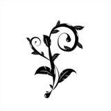 Albero ornamentale bianco nero Fotografia Stock