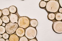 Albero rotondo delle case di ceppo Estratto Fotografia Stock