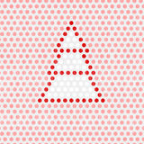 Albero su Dots Background rosa illustrazione vettoriale