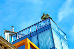 Albero sul tetto Immagine Stock Libera da Diritti