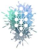 Albero variopinto di Sephiroth fatto con i punti isolati illustrazione di stock