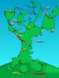 Albero verde con i nastri Illustrazione di Stock