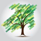 Albero verde con la freccia SU dell'affare crescente Immagine Stock