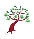 Albero verde della gente Fotografia Stock Libera da Diritti