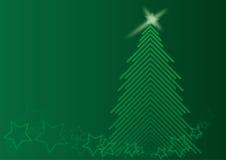 Albero verde di Chrismas Fotografia Stock
