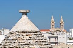 Alberobello的Trulli。 普利亚。 意大利。 免版税图库摄影