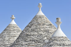 alberobello расквартировывает trulli Италии puglia Стоковое Изображение