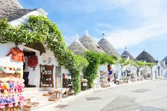 Alberobello, Apulia - Beautiful historical architecture called T. Alberobello, Apulia, Italy - Beautiful historical architecture called Trulli stock images