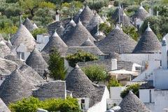 Alberobello (Apulia, Italië): De stad van trulli Royalty-vrije Stock Foto