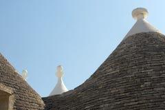 Alberobello (Apulia, Italy): Trulli Stock Photo