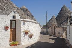 Alberobello (Apulia, Italy): The trulli town stock image