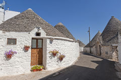 Alberobello (Apulia, Italy): The trulli town Royalty Free Stock Photos