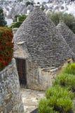 Alberobello, Apulien: der alte Bezirk des trulli der UNESCO-Standort Stockbild