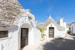 Alberobello, Apulien - traditionelle Kunst des lokalen architechture herein stockfotos