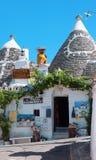 Alberobello, boutiques Images libres de droits