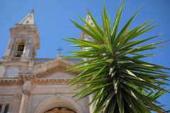 Alberobello. Church on a sunny day royalty free stock photo