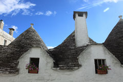 Alberobello details of trulli houses. Alberobello details of trulli roofs Stock Photography